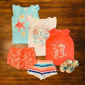 Gymboree Seashore Collection 3 of 5 Shorts Set 2T